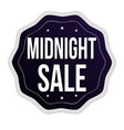 midnight sale sign or stamp vector image vector image