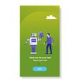 modern robot giving businessman documents folder vector image vector image