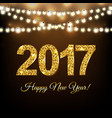new year postcard vector image vector image