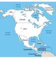 North America - map vector image