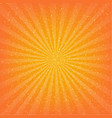orange sunburst background vector image vector image