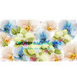 orchid flowers watercolor background vector image vector image