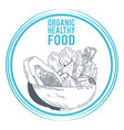 organic healthy food vector image vector image