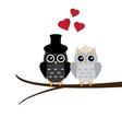 owl wedding vector image vector image