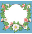 paper flowers border vector image vector image