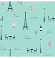 pattern eiffel tower vector image vector image