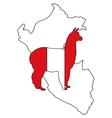 Peruvian alpaca vector image