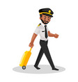 pilot cartoon character vector image