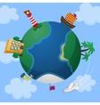 Planet Earth Cartoon Style icon vector image