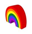 Rainbow cartoon icon vector image vector image
