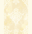 rococo pattern background ornamented vector image vector image