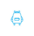 school bag linear icon concept school bag line vector image