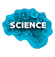 science concept in layered vector image
