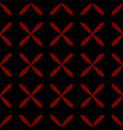 seamless abstract grid black pattern vector image vector image