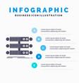 server structure rack database data infographics vector image