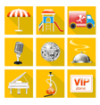 set icons for service restaurant vector image vector image