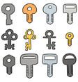 set key vector image vector image