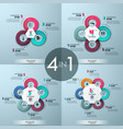set of 4 modern infographic design layouts vector image vector image