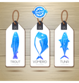 Set of fish seafood banners Document template vector image vector image