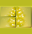 set of golden christmas cards eps10 vector image vector image