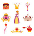 Set princess world elements and attributes of