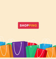shopping colorful shopping bag background i vector image vector image