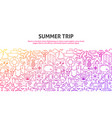 summer trip concept vector image vector image