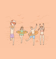 summer vacations and activities concept vector image