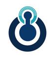 tech logo concept logo concept security logo vector image