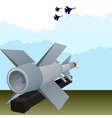 The missile antiaircraft defense vector image vector image