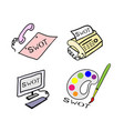 the office supply with swot analysis strategy mana vector image