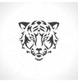 Tiger face logo emblem template mascot symbol vector image vector image
