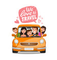 travel journey concept happy family traveling by vector image vector image