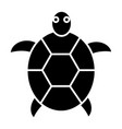 turtle icon black sign on vector image vector image