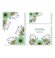 wedding ornament floral decorative natural vector image vector image