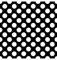 white circles on a black background seamless vector image vector image