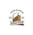 wood stair vector image