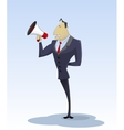 Young businessman with megaphone