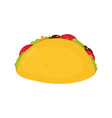 tasty taco flat cartoon character vector image