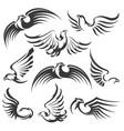 eagle icon set vector image