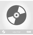 CD or DVD icon vector image