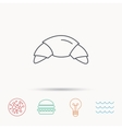 Croissant icon Bread bun sign vector image