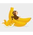 funny monkey design vector image