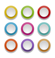 3d round buttons vector image vector image