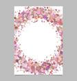 abstract blank confetti circle brochure vector image vector image