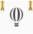 Balloon journey web icon sign and button vector image