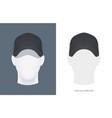 baseball cap at head vector image