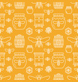 beekeeping seamless pattern orange color vector image