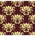 Beige and purple floral seamless pattern vector image