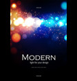 bokeh effect poster design template with gold and vector image